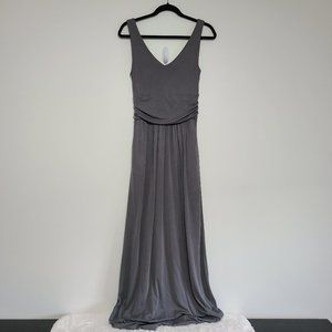 Brass Dove Gray Tank Summer Maxi Dress with Pocket